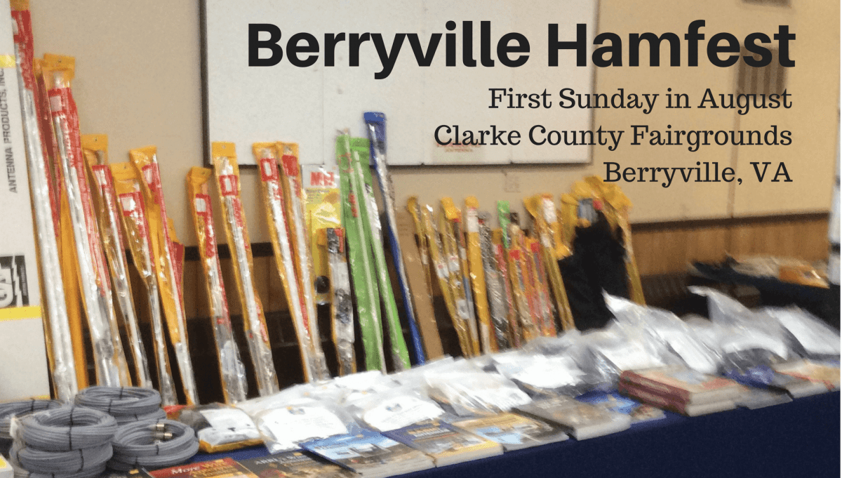 All Hands On Deck For The Berryville Hamfest This Weekend!