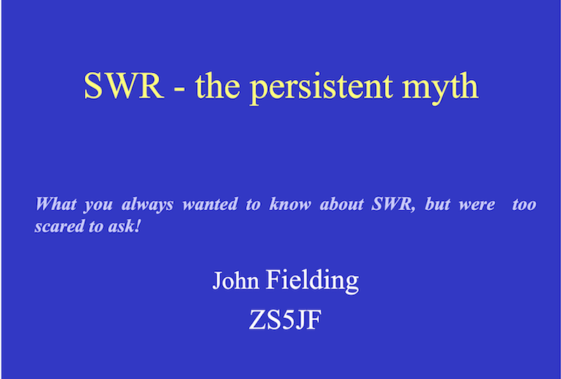 SWR – The Persistent Myth